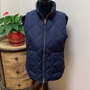 J.Crew Factory puffer vest, navy blue small